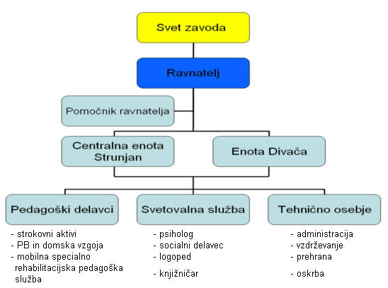 Organigram zavoda